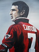Heroes Paintings - Eric Cantona by Gary Boyle
