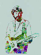 Celebrities Digital Art Framed Prints - Eric Clapton Framed Print by Irina  March