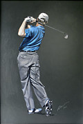 Pga European Tour Prints - Ernie Els Print by Mark Robinson
