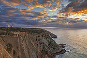 Ocean Cliff Prints - Espichel Cape Lighthouse Print by Jose Elias - Sofia Pereira