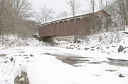Cvnp Prints - Everett Covered Bridge  Print by Jack R Perry