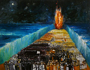 Flame Paintings - Exodus by Richard Mcbee