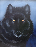 See You Painting Framed Prints - Eyes of the Wolf Framed Print by Joe Lisowski