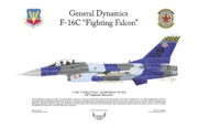 Squadron Prints Posters - F-16C Fighting Falcon Poster by Arthur Eggers