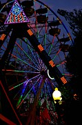 Evansville Indiana Photos - Fall Festival Ferris Wheel by Deena Stoddard