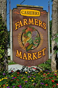 Peaches Corner Framed Prints - Farmers Market Framed Print by Robert Harmon