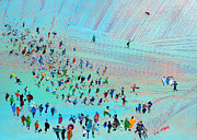 Crowds Paintings - Fell Runners by Neil McBride