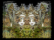 Consciousness Digital Art - Female Deity by Theresa Baker