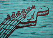 Fender Strat Drawings Prints - Fender Strat Print by William Cauthern