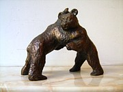 Humor Sculptures - Fighting bears by Nikola Litchkov