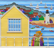 Fishermen Wharf Posters - Finally Home Poster by Anne Klar
