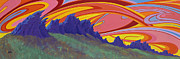 Colorado Fires Paintings - Fire Sky Over Devils Backbone by Alan Johnson
