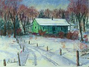 Etc.. Pastels - First Snow by Bruce Schrader