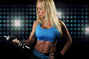 Sweat Posters - Fitness Model Poster by Jt PhotoDesign