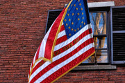 Patriotic Scenes Prints - Flag on Acorn Street Print by Joann Vitali