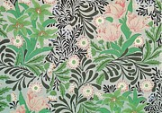 Featured Tapestries - Textiles Metal Prints - Floral Design Metal Print by William Morris