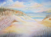 Beach Fence Prints - Florida Skies Print by Deborah Ronglien