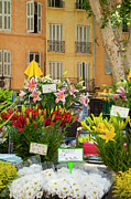 Provence Photos - Flowers at Market by Brian Jannsen