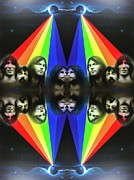 Hippy Framed Prints - Floyd Framed Print by Christian Chapman Art