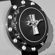 Ford Muscle Car Photos - Ford Mustang Emblem by Jill Reger