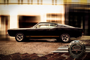 Digital Collage Photo Posters - Ford Torino G.T.390 Poster by Hannes Cmarits