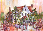 Abandoned Houses Painting Posters - Forgotten Poster by Bette Orr