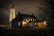 Cheryl Cencich Art - Fort Gratiot Lighthouse by Cheryl Cencich