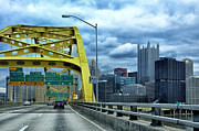 Monongahela River Framed Prints - Fort Pitt Bridge and Downtown Pittsburgh Framed Print by Thomas R Fletcher