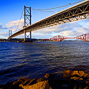 Craig Brown Art - Forth Bridges by Craig Brown