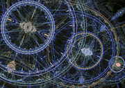Fractal Cogwheels Print by Martin Capek