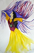 Shawl Painting Originals - Free by Linda Waidelich