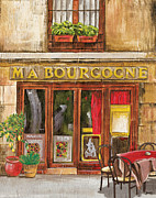 Tablecloth Prints - French Storefront 1 Print by Debbie DeWitt