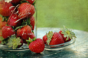 Mason Jar Prints - Fresh Berries Print by Darren Fisher