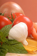Italian Meal Framed Prints - Fresh ingredients for making pasta Framed Print by David Smith