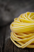 Spaghetti Noodles Photo Posters - Fresh pasta Poster by Mythja  Photography