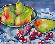 Reflection Harvest Painting Framed Prints - Fruit for All Framed Print by Joy Skinner