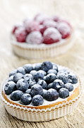 Blueberries Prints - Fruit tarts Print by Elena Elisseeva