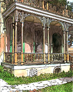 Garden District Paintings - Garden District Home by John Boles