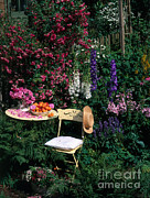 Garden With Chair Print by Hans Reinhard