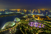 Mario Legaspi Metal Prints - Gardens By The Bay Metal Print by Mario Legaspi