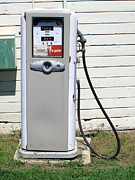 Barn Boards Prints - Gas Pump Print by Frank Romeo