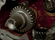 Crankshaft Prints - Gears  Print by Wilma  Birdwell