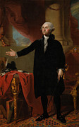American Revolution Paintings - George Washington by Gilbert Stuart