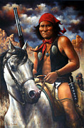 Americans Framed Prints - Geronimo Framed Print by Harvie Brown
