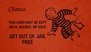 Black Tie Digital Art Posters - Get Out Of Jail Free Card Poster by Rob Hans