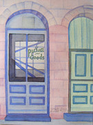 Store Fronts Paintings - Ghost Town by Louise Riedell