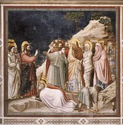 Lazarus Framed Prints - Giotto Di Bondone 1267-1337. Scenes Framed Print by Everett