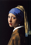 Girl With A Pearl Earring Paintings - Girl with a Pearl Earring by Gift Factory