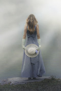 Evening Dress Metal Prints - Girl With Sun Hat Metal Print by Joana Kruse