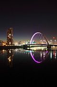 Night Scene Prints - Glasgow Clyde arc Print by Grant Glendinning